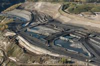 Site C Dam Contruction aerial.